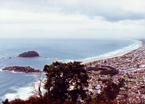 View from Mount Maunganui Bay Of Plenty New Zealand 1991