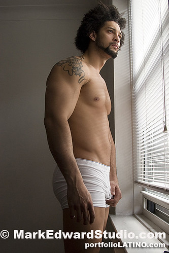 hot latin hunk on white boy short