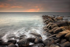 Kimmeridge bay (Tony Armstrong-Sly) Tags: longexposure sunset sea england sky seascape nature sunrise canon landscape coast rocks dorset kimmeridge kimmeridgebay mywinners canon5dmarkii