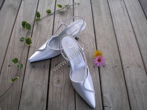 Shiny satin bridal shoes to designer Mariae
