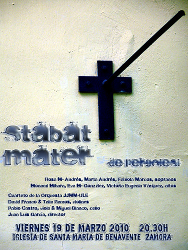 STABAT MATER - G. B. PERGOLESI - BENAVENTE (ZAMORA) 19.03.10