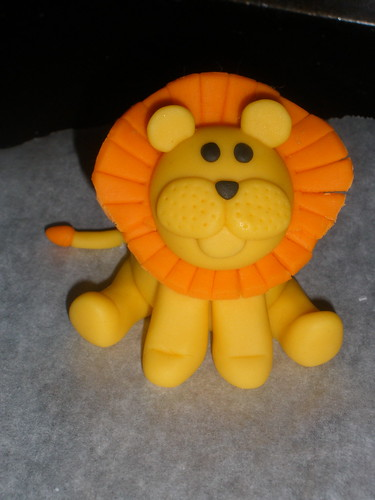 Handmade fondant lion