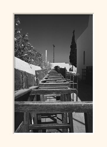 Santorini Pews