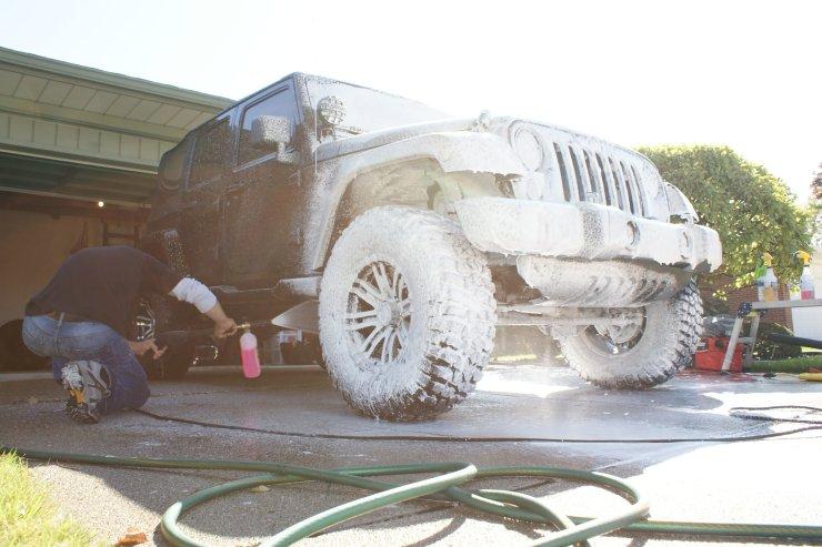 wrangler foam lance wash