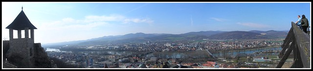 Trenčín from the castle