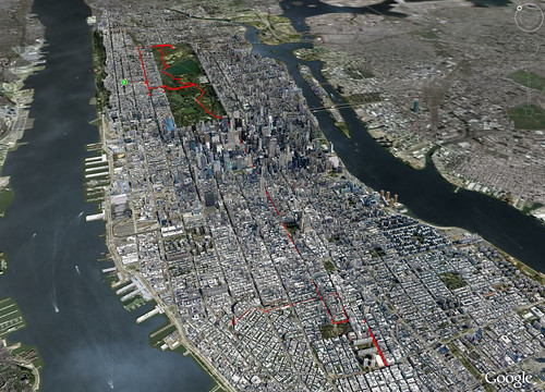Manhattan 12.31 mile walk 3D