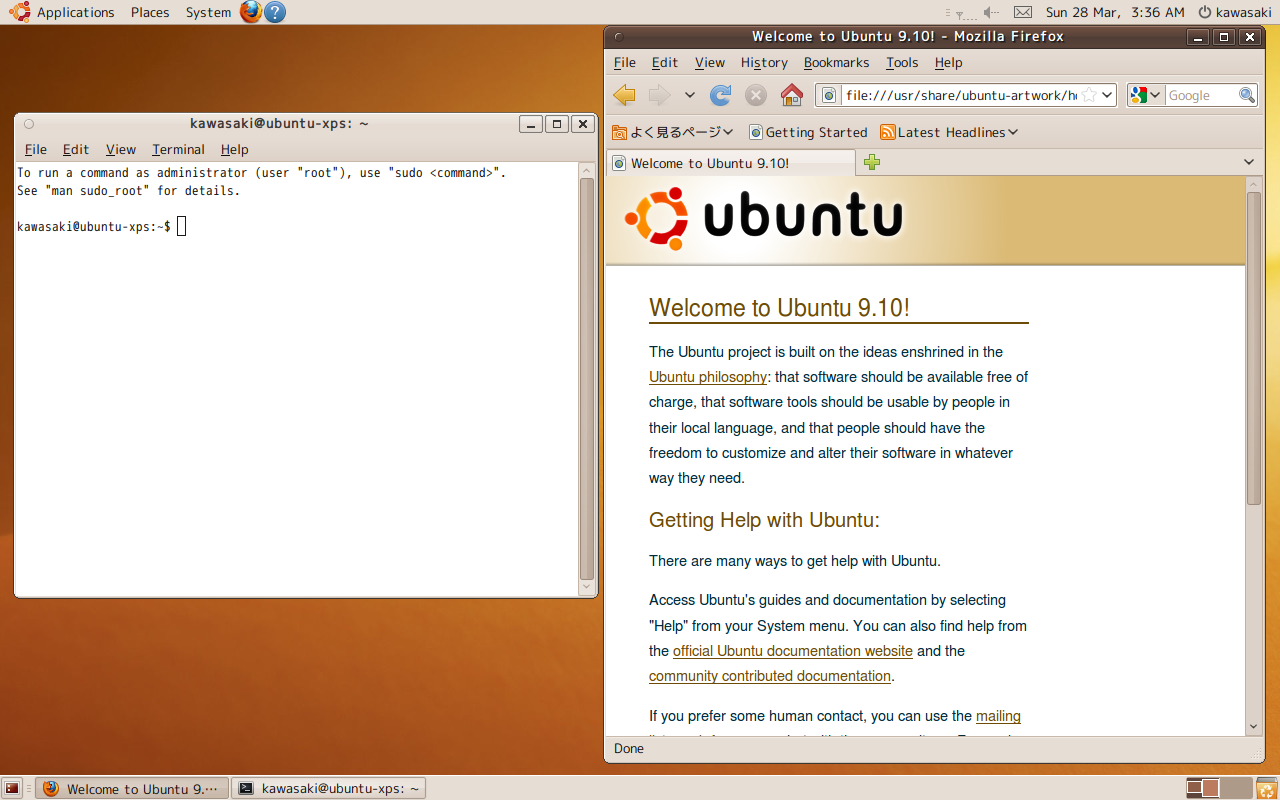 Ubuntu 9.10 on my Dell XPS M1210