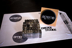 Letters & Stamp (Emerge Studios) Tags: uk black logo typography design brighton graphic picture stamp font studios letterpress emerge sony350 emergestudios