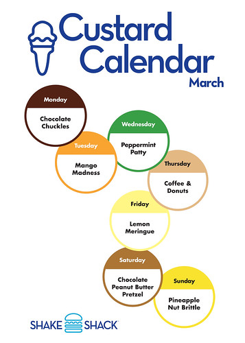 Shake Shack Custard Calendar March 2010