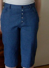 Cropped Jeans Front View