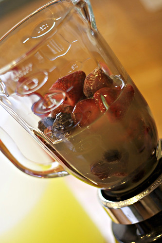 Berries in a blender