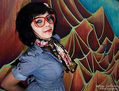 Penny Lane (Ebony LaTesha Photography) Tags: graffiti alley beatles lovely reno sparks oldfashioned 2010 pennylane redglasses cheyanna ebonycoleman