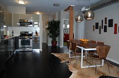 Open Kitchen (designerscall) Tags: home kitchen loft design losangeles interiors industrial interior pad hide bachelor rug dining designers redesign