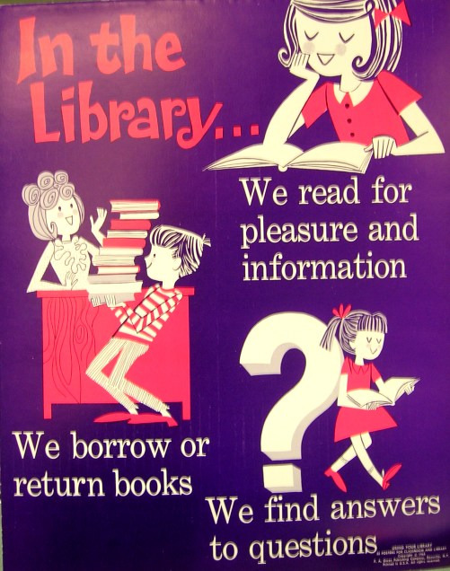 Retro Poster - In the Library - courtesy of flickr.com user -- Enokson --
