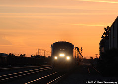 Westward Glow (El Roco Photography) Tags: california railroad sunset santafe station night train canon diesel rail trains socal amtrak transportation locomotive orangecounty ge fullerton glint railroads pacificsurfliner passengertrain emd superliner atsf burlingtonnorthernsantafe fullertoncalifornia f59phi alltrains amtrakcalifornia bnsfrailroad burlingtonnorthernsantaferailroad elrocophotography