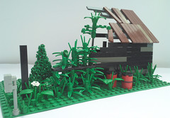 Abandoned trackside shed W.I.P (bricktrix) Tags: abandoned train lego shed trackside legotrain lineside