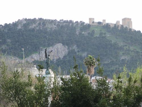 anatomía del parque de la victoria de jaén: vistas del castillo