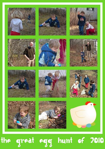 egg hunt collage