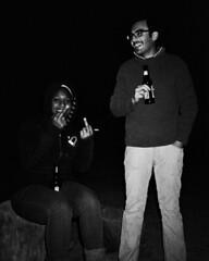 Erin and Rambod (G.E.T.) Tags: bw beer high greg desert finger 1600 campfire potato stump neopan middle ricoh twbg blackmountainranch ff90