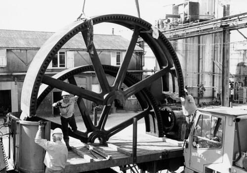 Transport de la machine à vapeur Dujardin