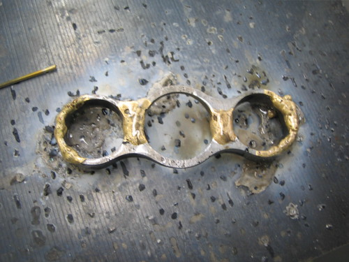 after bronze brazing bottom plate