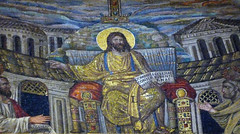 Santa Pudenziana Mosaic with detail of Christ