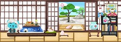 japanese room (adout) Tags: pet japanese sleepingcat onigiri greentea xiaoxiao princessdoll blackkimono petsociety assortedsushi sakuralantern zengardendoor bluekotatsu greyzorisandals ojisang whiteteruterubozu