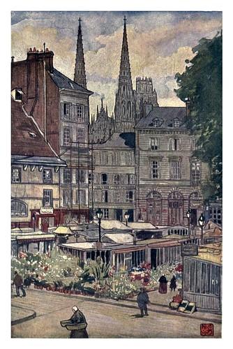 008- Torres de la Iglesia de San Ouen en Rouen-Normandy-1905- Ilustrado por Nico Jugman