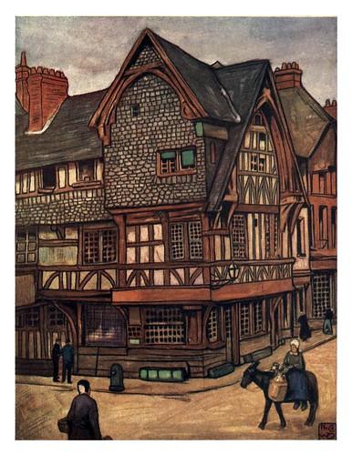 014- Balconadas de madera en una casa de Lisieux-Normandy-1905- Ilustrado por Nico Jugman