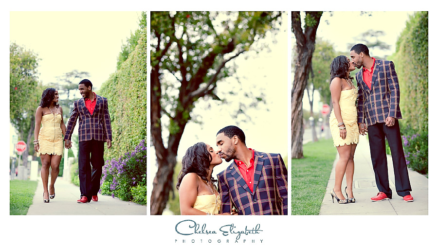 Los Angeles street vintage engagement session