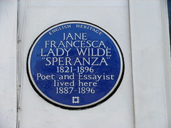 Photo of Jane Francesca 'Speranza' Wilde blue plaque