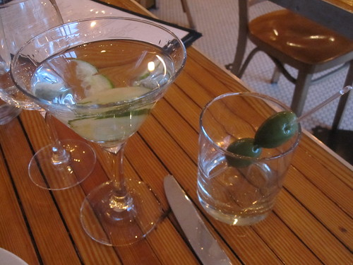 Hendrick's martini with a side of olives