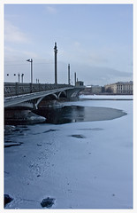172 (AnkhaiStenn) Tags: bridge winter snow ice saint river russia petersburg russian lt neva lieutenant shmidt