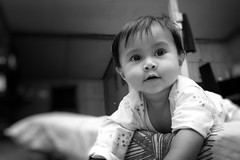 Syahmina III (shoradhi ( Cikgu Sho )) Tags: blackandwhite hometown niece malaysia kelantan pasirputeh syahminauzma kidkidkidkidportrait