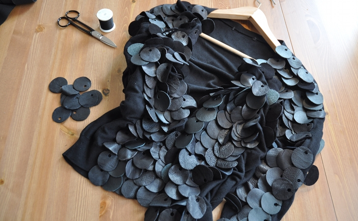 Phosphene DIY leather paillettes top 1