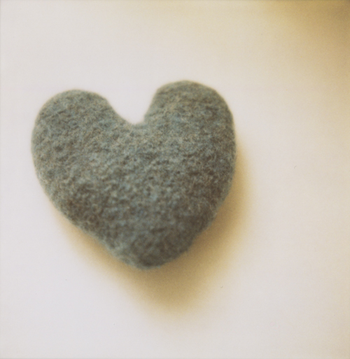 Felted heart.