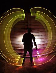 Formation (by Travis Harris.) Tags: longexposure light colors night photography lights virginia cool scary nikon colorful flash pipe sb600 aliens abandon lightgraffiti oldwood lightart lapp d3000 travisbharris