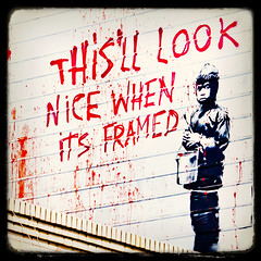 More Banksy in San Francisco (Thomas Hawk) Tags: sanfrancisco california usa graffiti stencil unitedstates fav50 10 unitedstatesofamerica banksy fav20 missiondistrict fav30 fav10 fav25 fav40 fav60 fav90 fav80 fav70 superfave