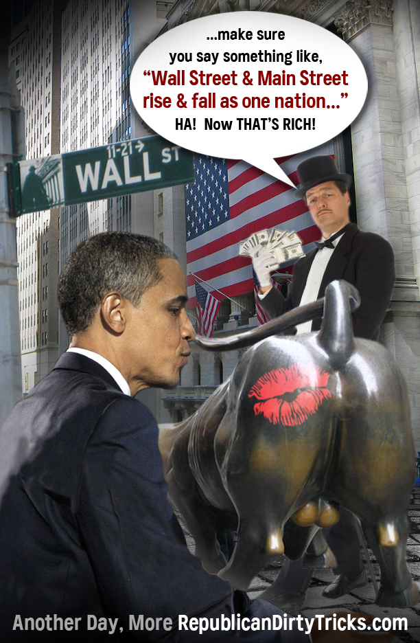Obama Kisses Wall Streets Ass Image