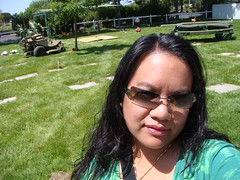visiting the cemetery