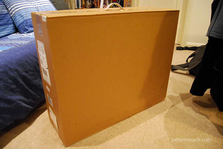 My new iMac (outer box)