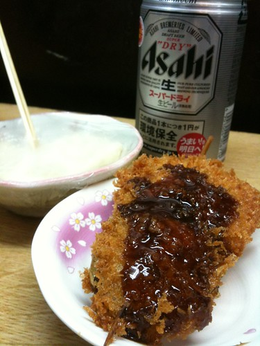 #tachinomi 大井町肉の前川!串カツ麦酒にぽてさらで500 円!