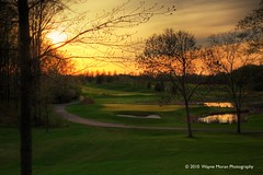 Rush Creek Golf Course: Sunset in Golfer's Paradise
