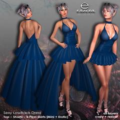 ezura + Sexy LowBack Dress *Teal (ezura Xue) Tags: ezura