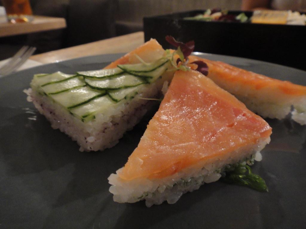 salmon rice cake