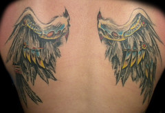 bio-mech angel wings tattoo (slushbox) Tags: tattoo angel wings feathers bio tattoos mech biomech