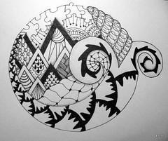 Alps (Jo in NZ) Tags: drawing doodle zentangle nzjo zendoodle