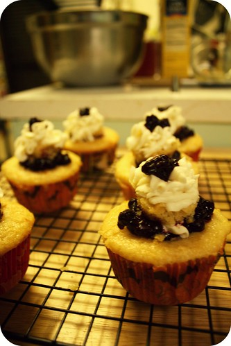 blueberry filled lemon cupcakes