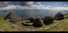 Skellig Michael (An diabhal glas) Tags: world ocean life county ireland panorama irish cliff heritage rock vertical stone century photoshop island coast michael early site high stitch extreme great rocky lifestyle 9 irland kerry atlantic christian unesco huts monastery monks 600 summit miles celtic walls 12 language 230 7th beehive christians munster michaels steep monastic irlanda spartan ascetic conditions founded metre kilometres skellig monasteries remoteness cs5 sceilig mhichl clochans andiabhalglas aerland