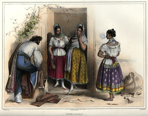 002-China poblana-Voyage pittoresque et archéologique dans la partie la plus intéressante du Mexique1836-Carl Nebel